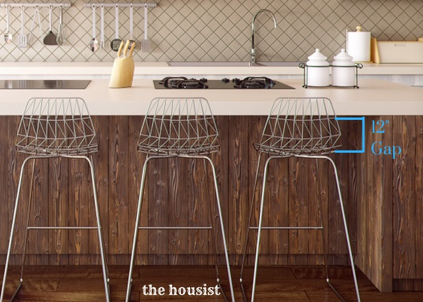"""12"""" gap between counter and stool - how to buy bar stools"""