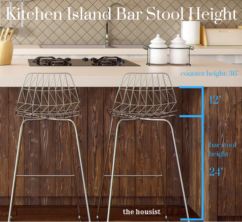 kitchen island bar stool height