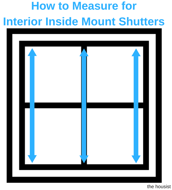 Measure Interior Inside Mount Shutters height