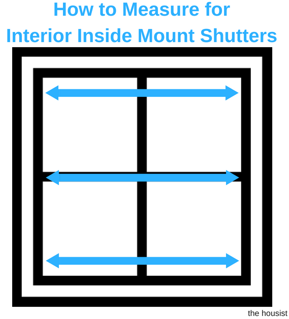 Measure Interior Inside Mount Shutters Width
