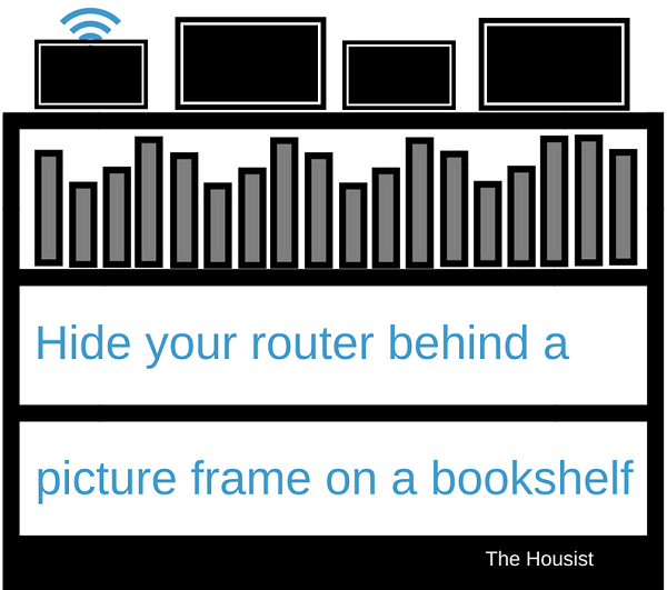 hide router behind a picture frame